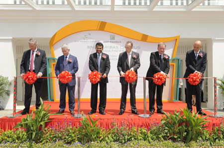 Inauguration of the asia pacific campus of bnp paribas for Chambre de commerce francaise singapour