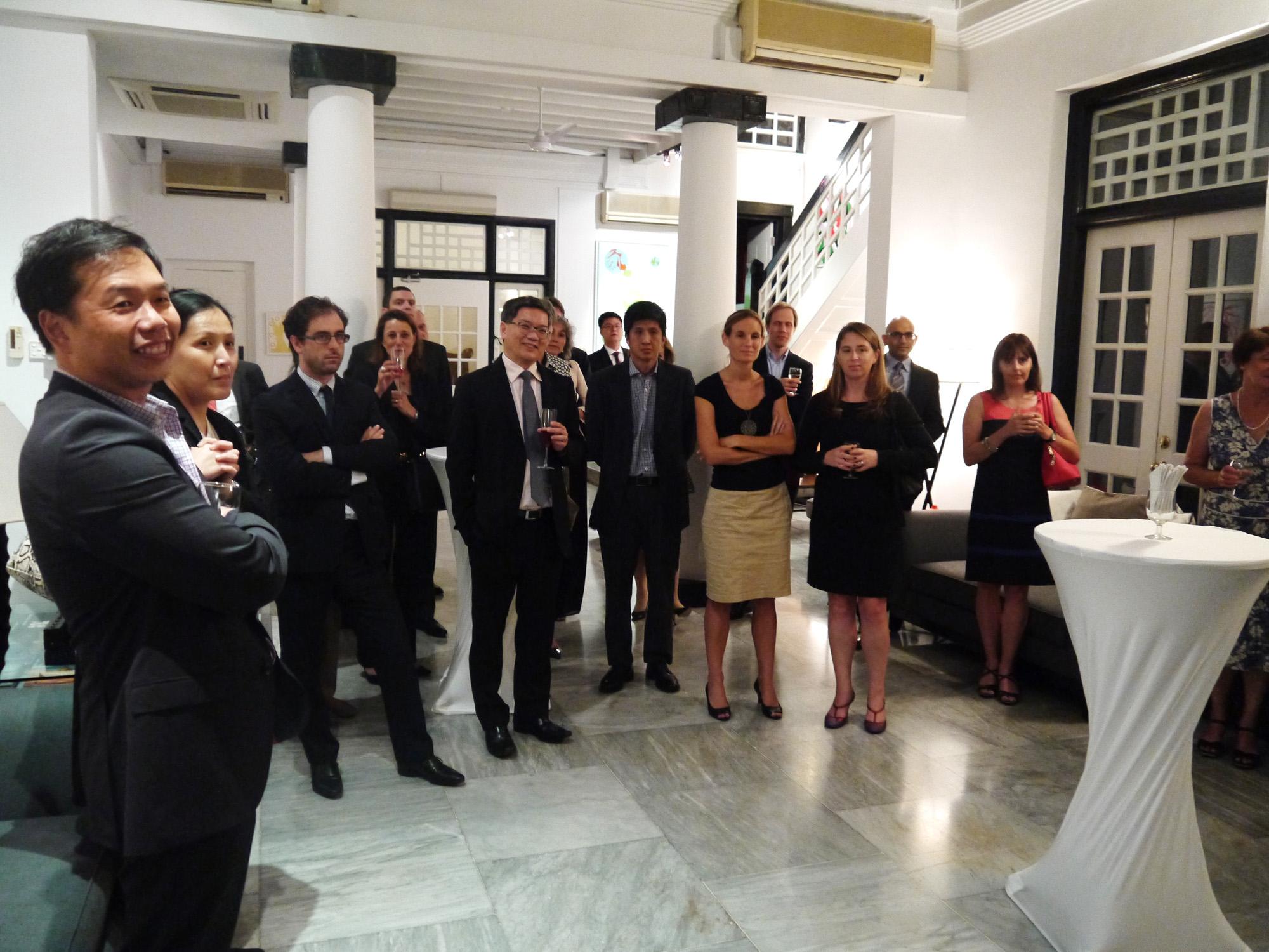 R ception pour les participants de la conf rence sur l for Chambre de commerce francaise singapore