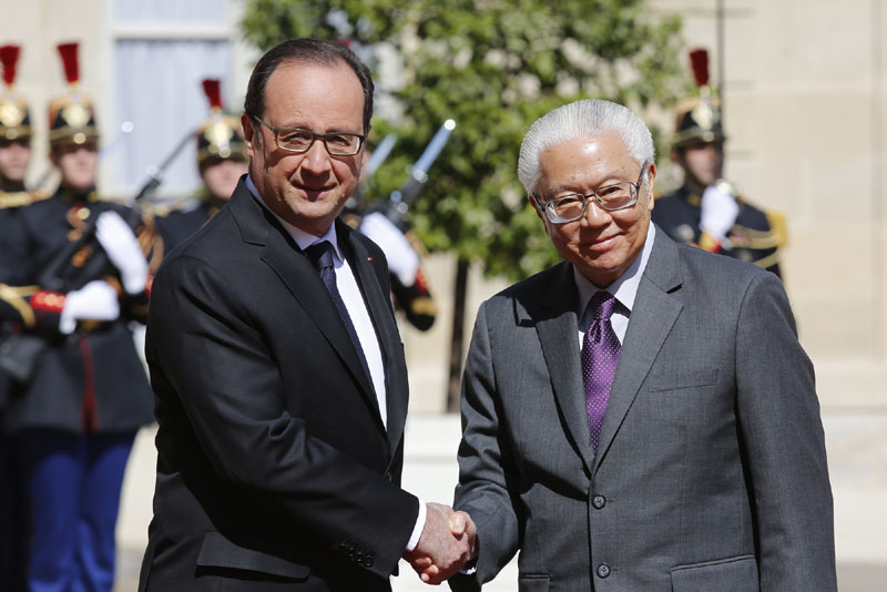 State visit to france of president tony tan 17 23 may for Chambre de commerce francaise singapour