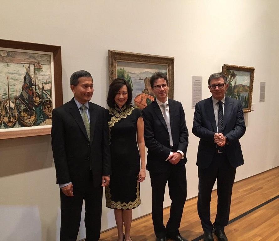 Inauguration de l exposition reframing modernism la for Chambre de commerce francaise singapore