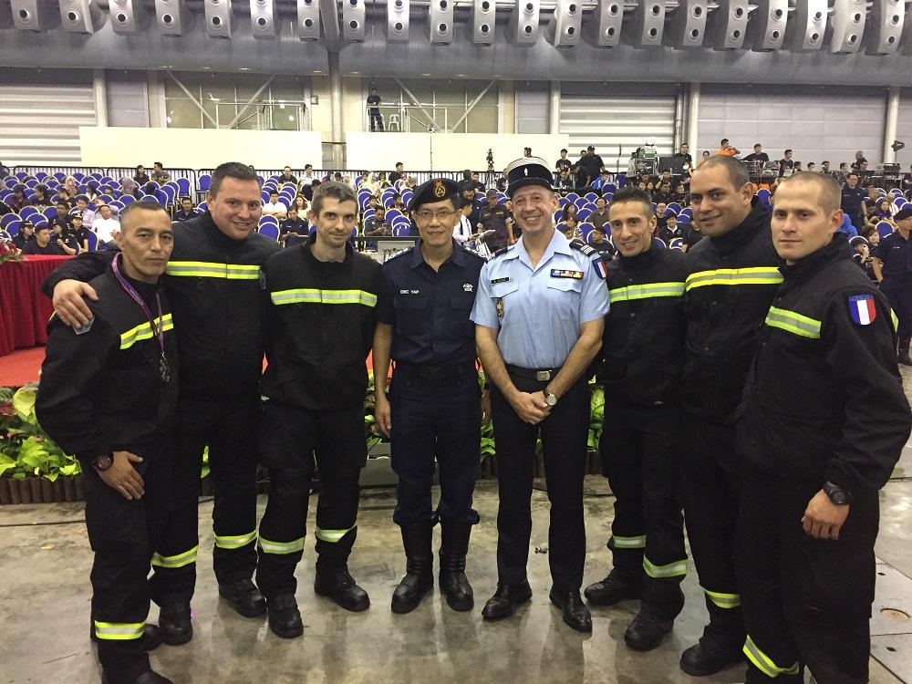 Une quipe fran aise de sapeurs pompiers au sgfpc 2016 for Chambre de commerce francaise singapour