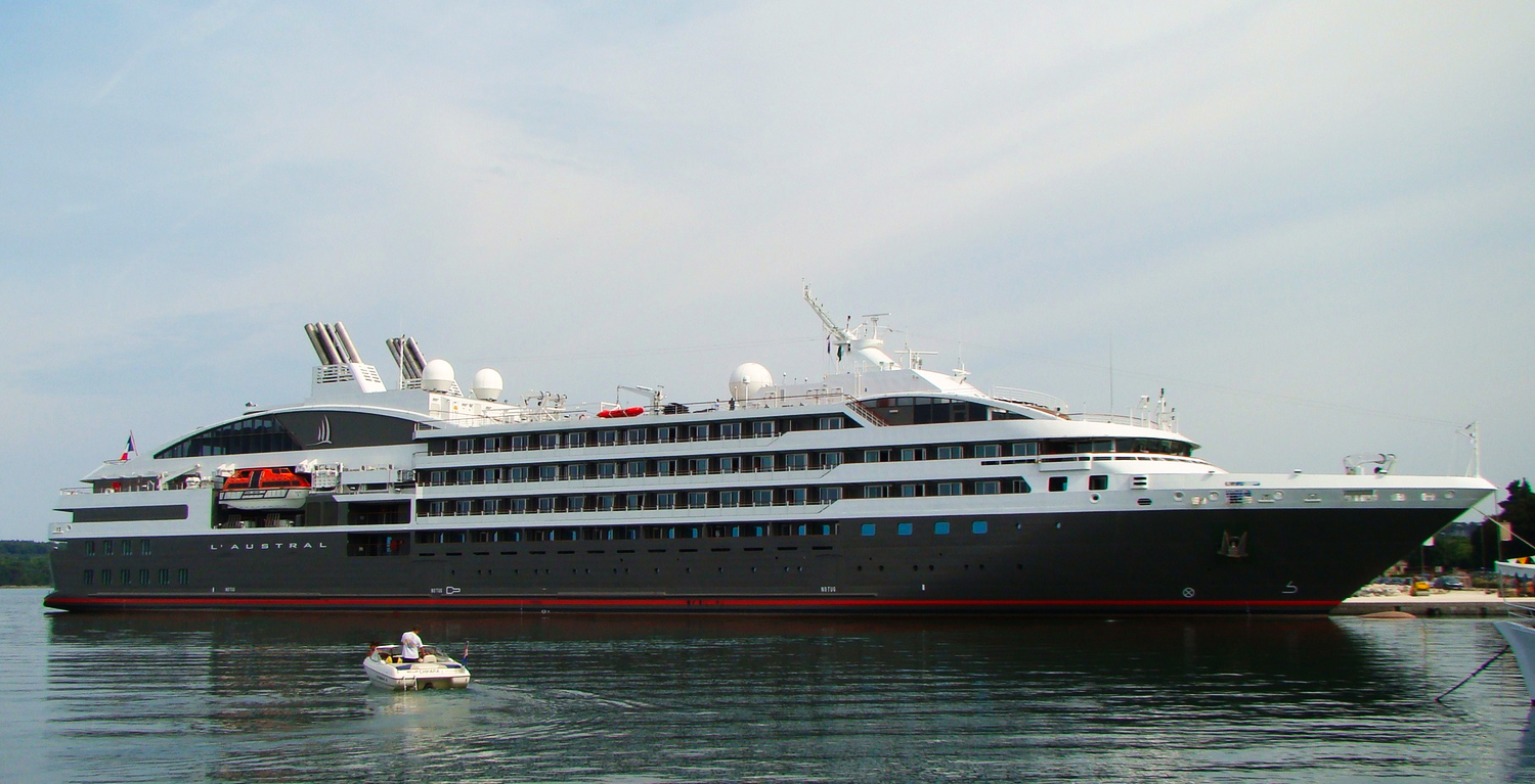 Visit On Board French Luxury Cruise Ship LAustral  La