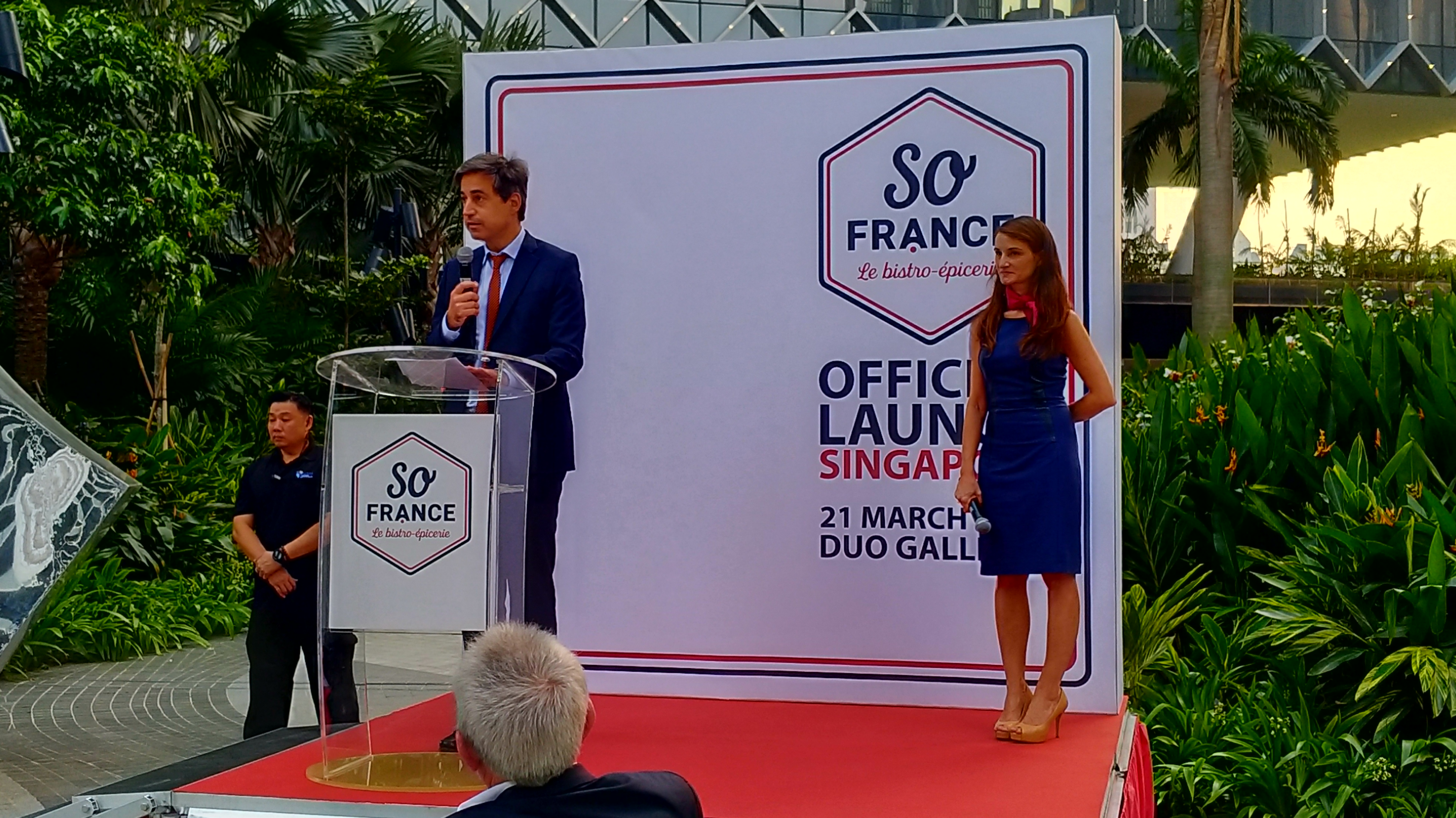 French Ambassador Marc Abensour speaking at the official launch of So France on 21st March