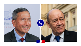 Phone Call between France and Singapore's Foreign Ministers