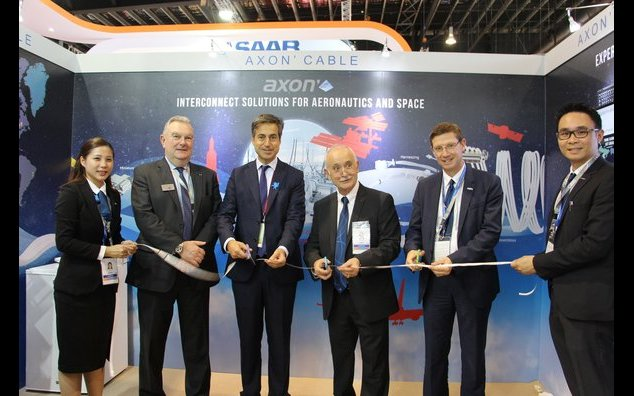 French Ambassador attending Axon Cable's new subsidiary ribbon-cutting ceremony