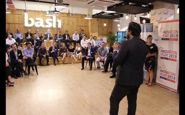 At BASH, Minister Mahhoubi meeting the 8 startups embarked on the ASEAN French TechTour as well as Singaporean startups and entrepreneurs, local public agencies, CVCs and Greater Paris Agency representatives. One common ground: let's innovate!