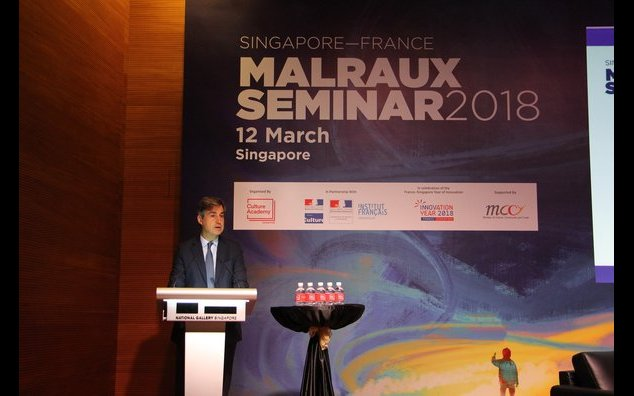 French Ambassador Marc Abensour speaking at the Malraux Seminar