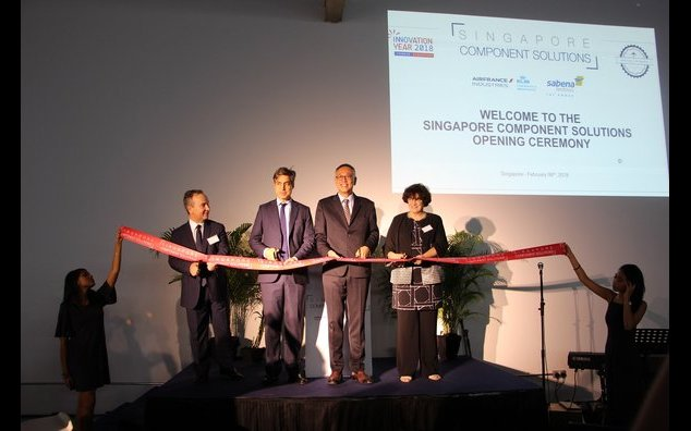 French Ambassador assisting to Seletar's Singapore Component Solutions opening ceremony