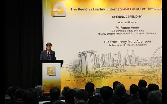 Mr. Marc Abensour at the opening Ceremony Milipol Asia Pacific 2019