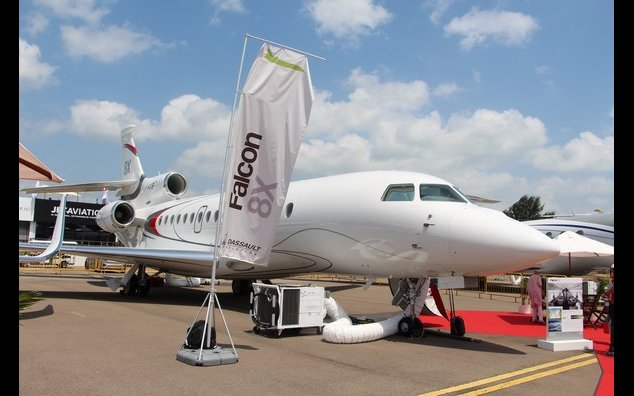 Falcon X8 plane built by french company Dassault