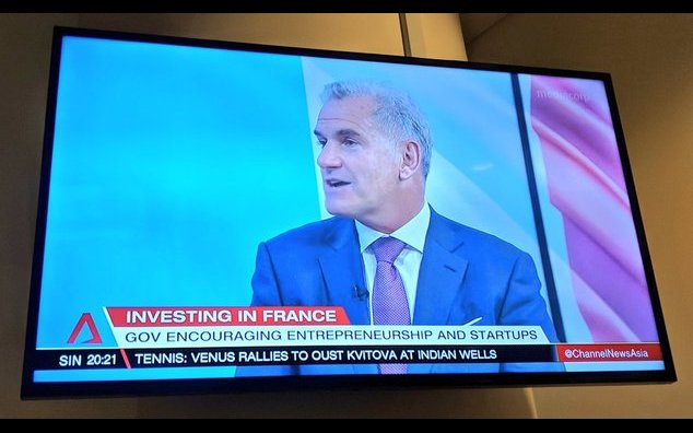 Pascal Cagni lors de son interview sur Channel NewsAsia